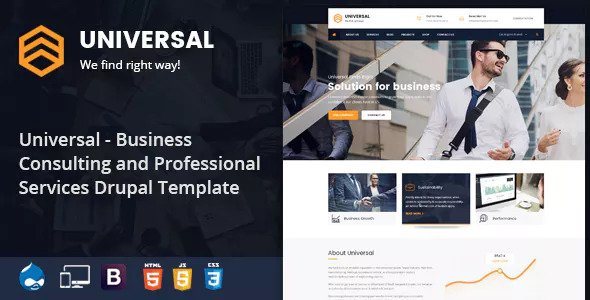 Universal — Business, Consulting and Professional Services Drupal 8.5 Theme