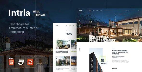 Intria — Architecture and Interior HTML Template