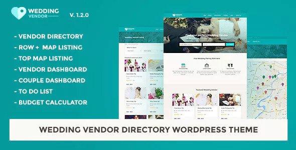 Wedding Vendor v1.2.0 — Vendor Directory WordPress Theme
