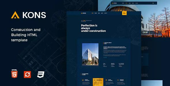 Kons — Construction and Building Template