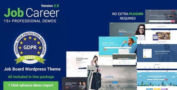 JobCareer v2.5 — Job Board Responsive WordPress Theme