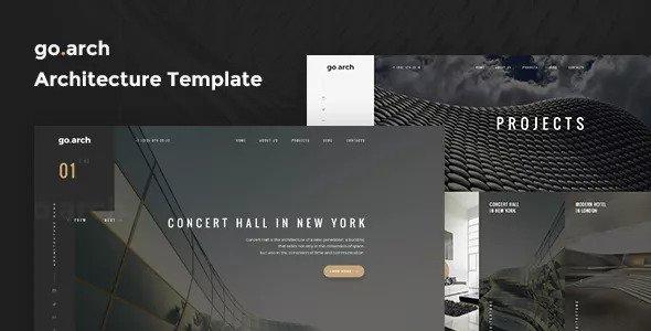 go.arch — Architecture & Interior Template