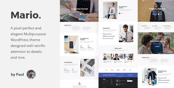 Mario v1.0.6 — Creative Multipurpose WordPress Theme