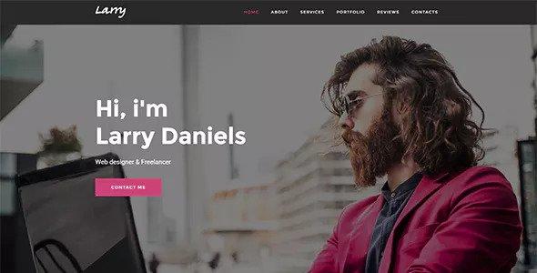 Larry v1.0.1 — Personal Onepage WordPress Theme