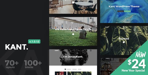 Kant v1.0.12 — A Multipurpose WordPress Theme for Startups