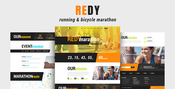 Redy v1.0.2 — Marathon & Sports WordPress Theme