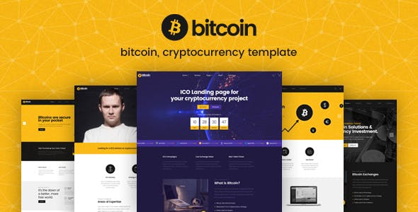 Bitcoin — ICO and Cryptocurrency PSD Template