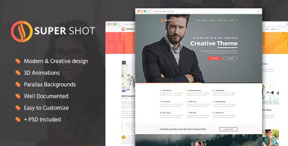 SuperShot — Creative HTML Template