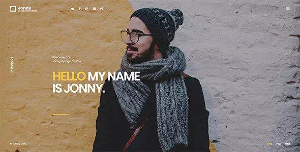Jonny — One Page HTML Template