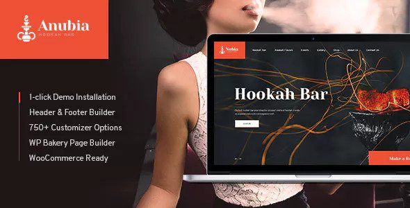Anubia v1.0 — Smoking and Hookah Bar WordPress Theme