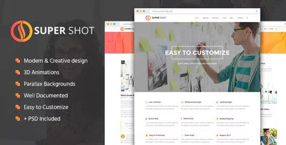 SuperShot — Creative Agency Landing Page