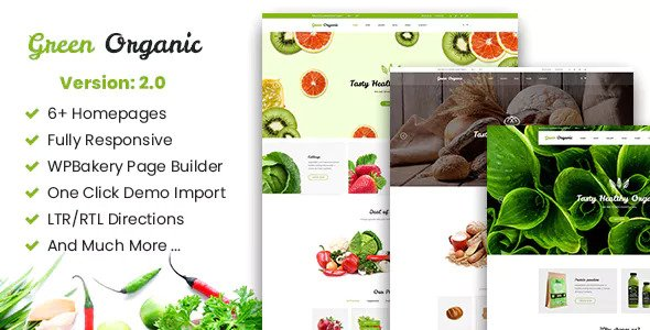 Green Organic v2.3 — Organic Store & Bakery Theme