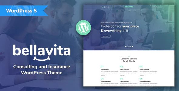 Bellavita v1.2.1 — Insurance & Finance WordPress Theme