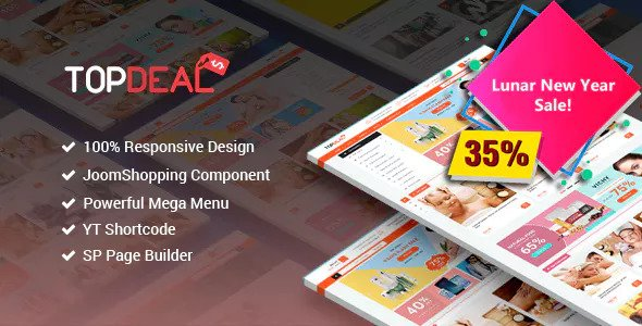 TopDeal v3.9.0 — Responsive Multipurpose Deal, eCommerce Joomla Template With Page Builder