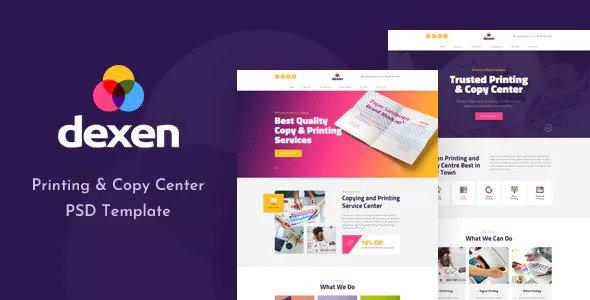 Dexen — Printing and Copy Center PSD Template