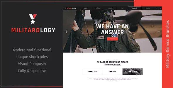 Militarology v1.0.1 — Military Service WordPress Theme