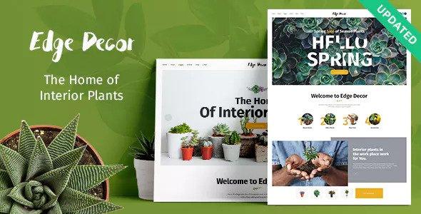 Edge Decor v1.0.1 — A Modern Gardening & Landscaping Theme