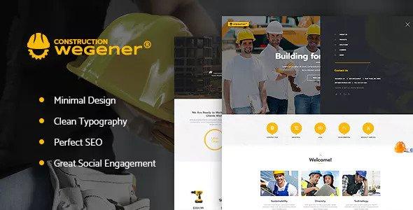 Wegener v1.1 — Construction & Engineering WordPress Theme