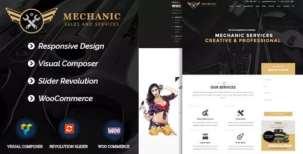 Mechanic v1.0.1 — Car Service & Workshop WordPress Theme