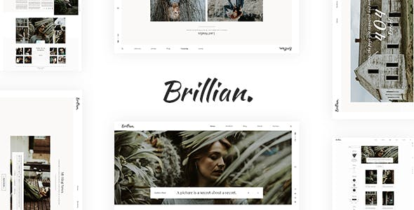 BRILLIAN v1.0 — Photography, Personal, Blog HTML Template