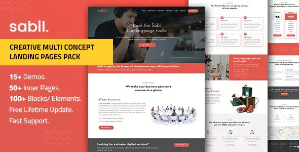 Sabil — Multipurpose Bootstrap Landing Page Templates
