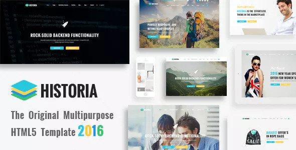 Historia v1.0 — Responsive Multi-Purpose HTML Template