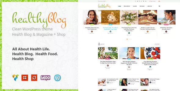 Healthy Living v1.2 — Blog with Online Store WordPress Theme