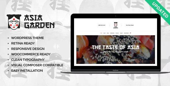 Asia Garden v1.1.1 — Asian Food Restaurant WordPress Theme