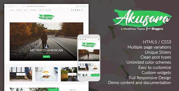 Akusara v3.0 — Multipurpose Blog Theme