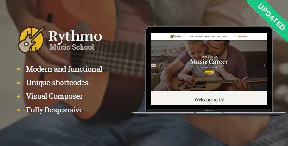 Rythmo v1.0.1 — Music School WordPress Theme