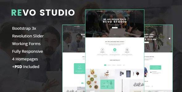 Revo Studio — Multipurpose Landing Page