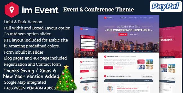 im Event — Event Conference Landing Page (Bootstrap 3 and Bootstrap 4)