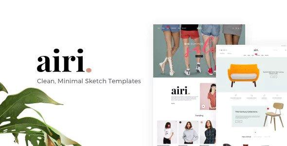 AIRI — Clean, Minimal Sketch Templates