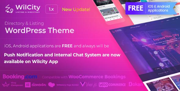 Wilcity v1.1.7.2 — Directory Listing WordPress Theme