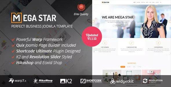 Megastar v1.1.13 — Business Joomla Template