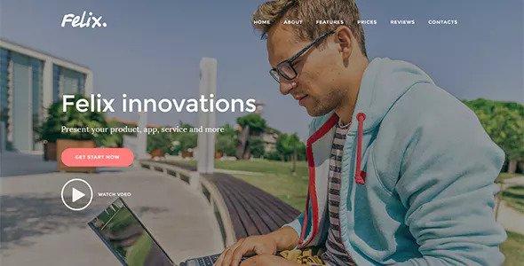 Felix v1.0.2 — Startup Landing Page WordPress Theme