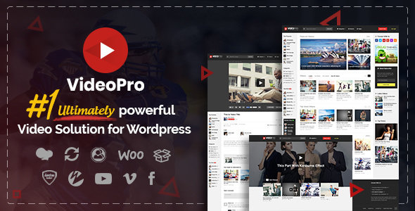 VideoPro v2.3.6.1 — Video WordPress Theme