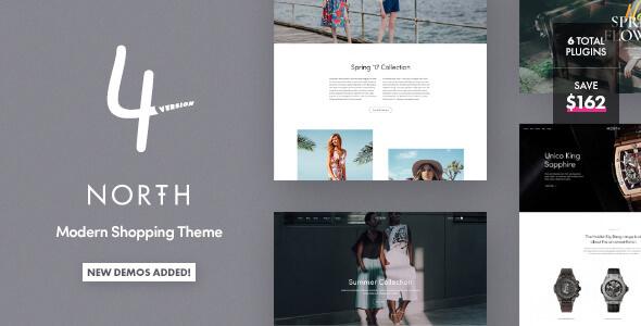 North v4.1.10 — Responsive WooCommerce Theme