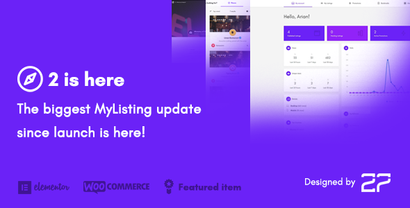 MyListing v2.0.11 — Directory & Listing WordPress Theme