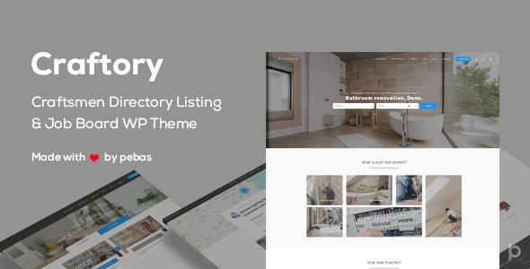 Craftory v1.3.0 — Directory Listing Job Board Theme