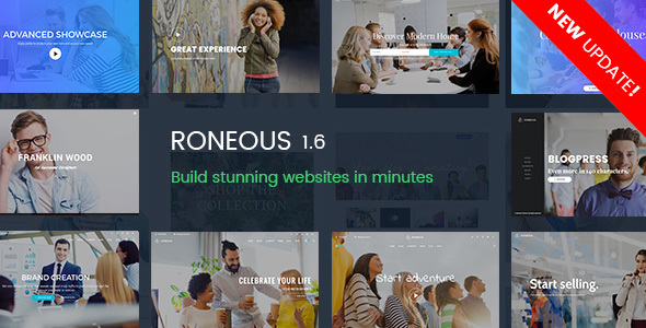 Roneous v1.6.3 — Creative Multi-Purpose WordPress Theme