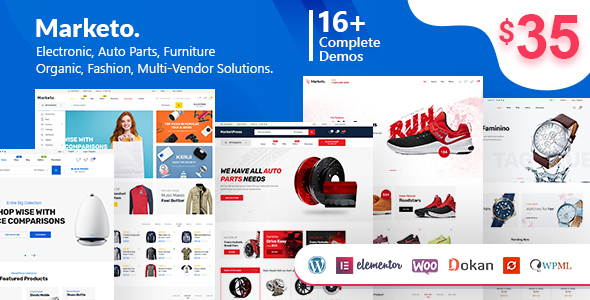 Marketo v1.5.1 — ECommerce & Multivendor Theme