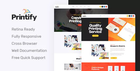 Printify — Attention Grabbing Printing Company HTML Template