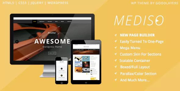 Mediso v1.21 — Corporate / One-Page / Blogging WP Theme