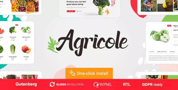 Agricole v1.0.1 — Organic Food & Agriculture Theme