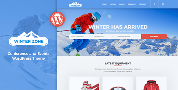 WinterZone v1.2.1 — Ski & Winter Sports WordPress Theme