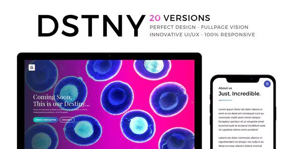 DSTNY — Revolutionary Coming Soon Template