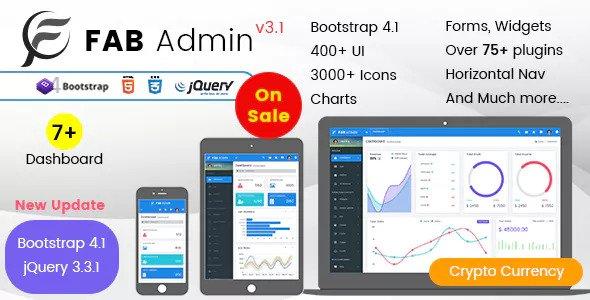 Fab Admin — Responsive Admin Dashboard Template Web App