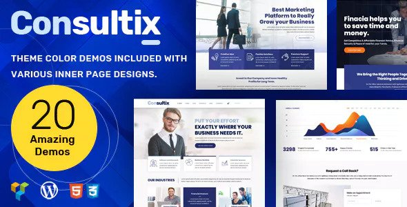 Consultix v1.3.7 — Business Consulting WordPress Theme