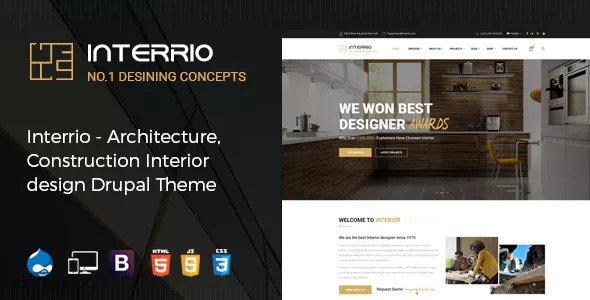 Interrio — Architecture, Construction, and Interior Design Drupal Theme